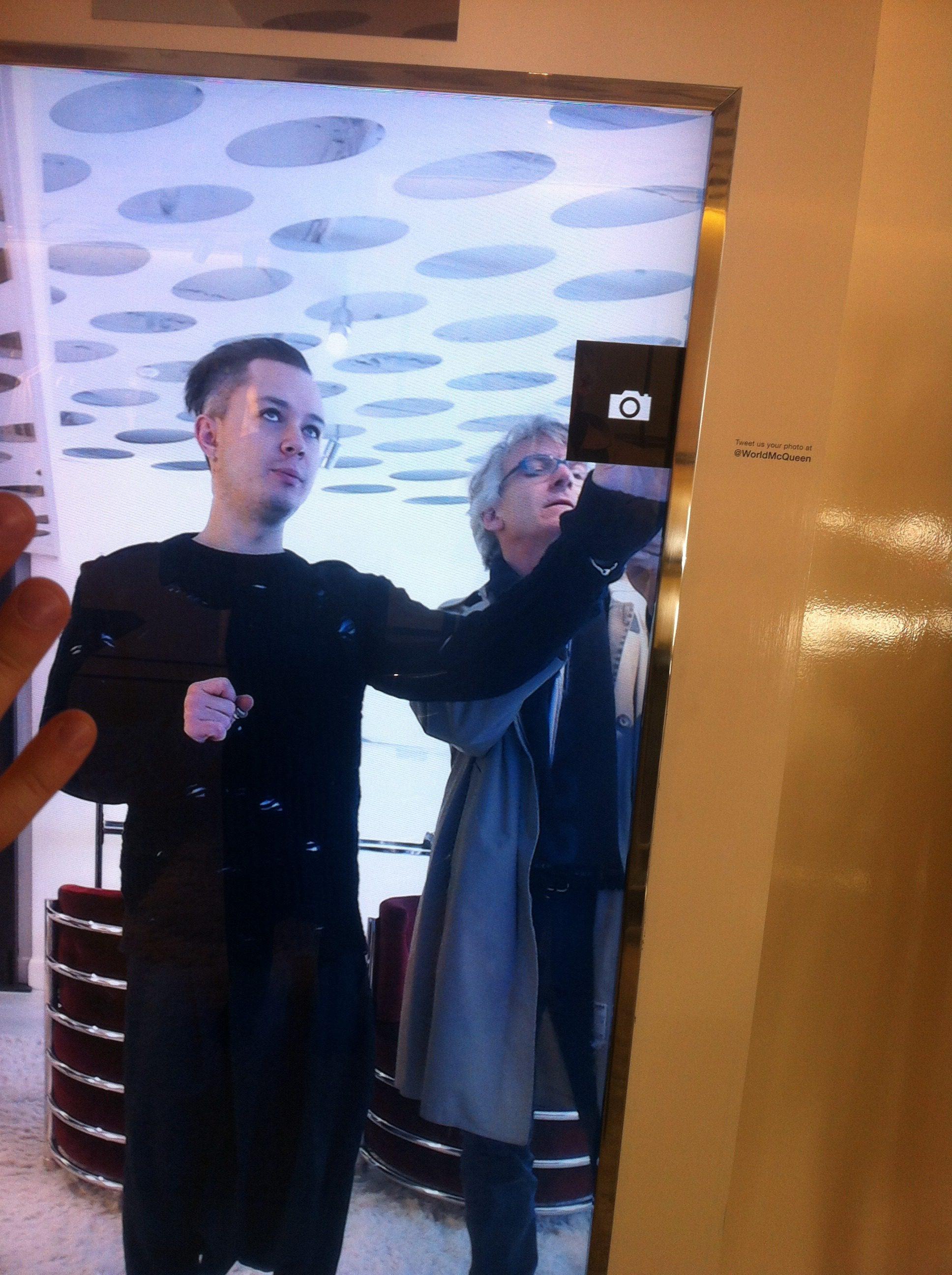 Alexander McQueen, Interactive Mirror on The Myndset Brand Strategy