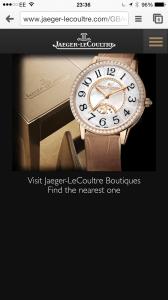 Jaeger-Lecoultre mobile experience - luxury web design