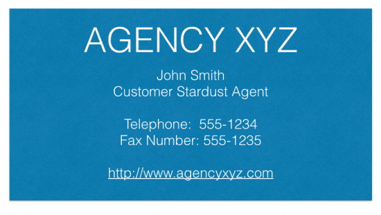 Digital Business Card Agency XYZ business card, The Myndset digital marketing
