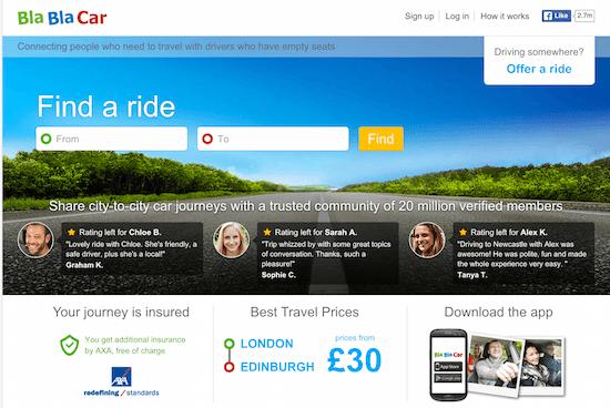 BlaBlaCar sharing economy