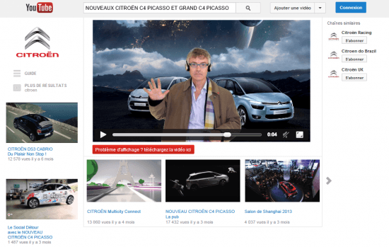 Citroen Youtube, The Myndset digital marketing brand strategy