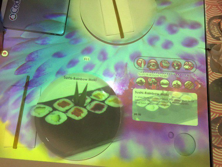 Interactive restaurant inamo