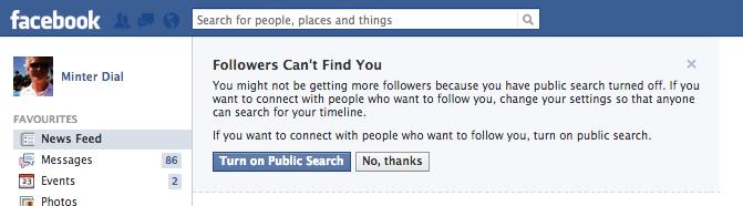 Facebook Followers settings, The Myndset Digital Marketing and brand strategy