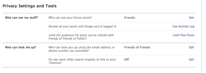 Facebook privacy settings, The Myndset Digital Marketing and brand strategy