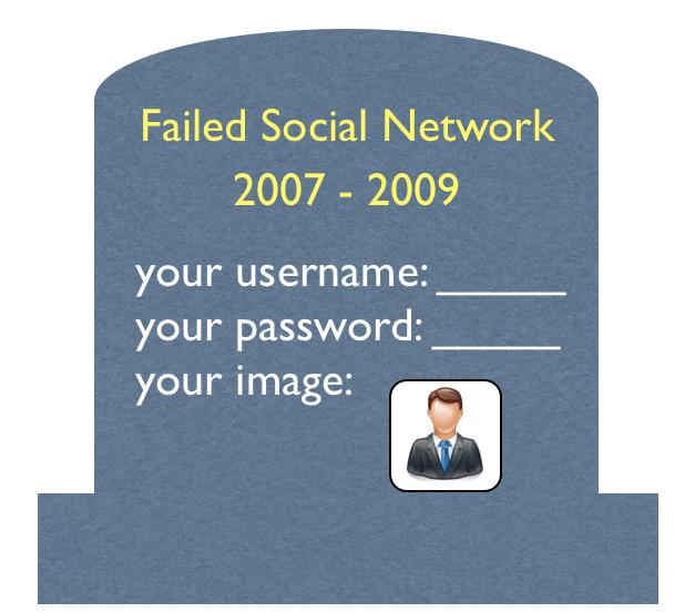 Failed social network