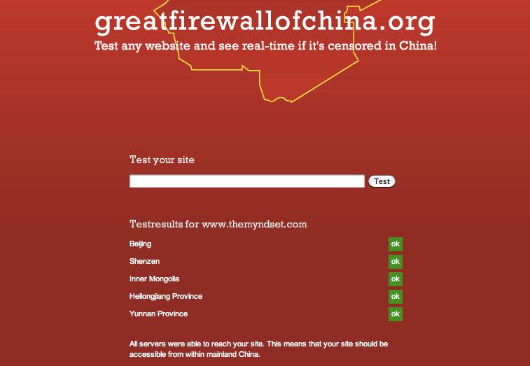 Great Firewall China censorship