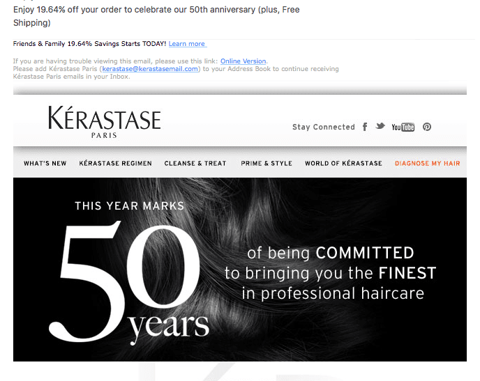Happy Anniversary Kerastase