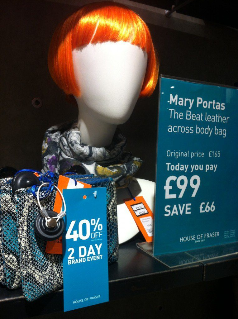 House of Fraser Mary Portas, The Myndset Digital Marketing and Brand Strategy