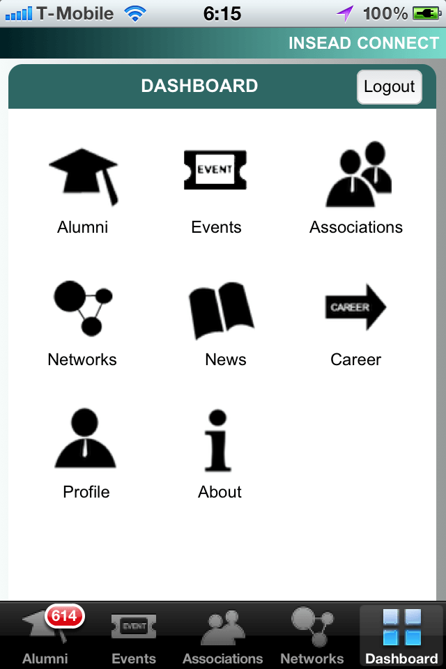 Insead Mobile Connect Dashboard