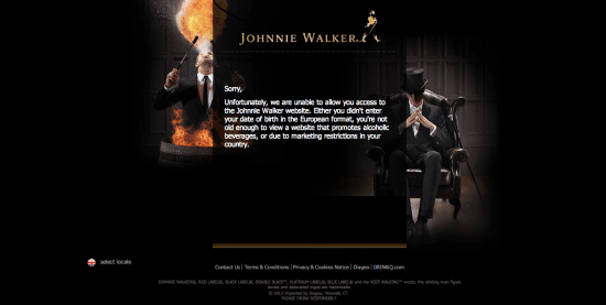 Johnnie Walker, Age Gate, The Myndset digital marketing brand strategy