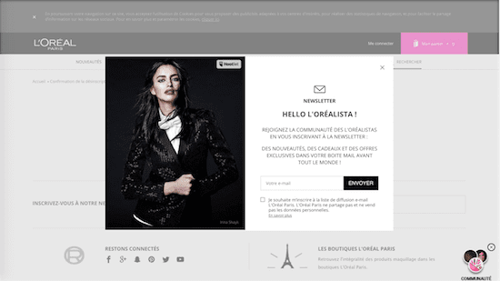 L'Oreal unsubscribe user experience