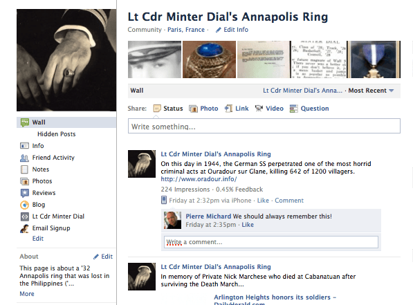 Lt Minter Dial fan page home page