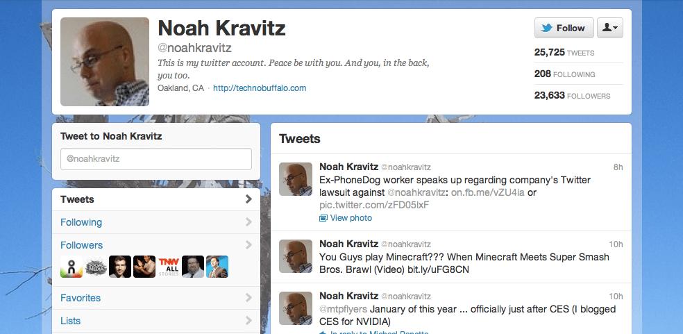 Noah Kravitz on Twitter, by the Myndset
