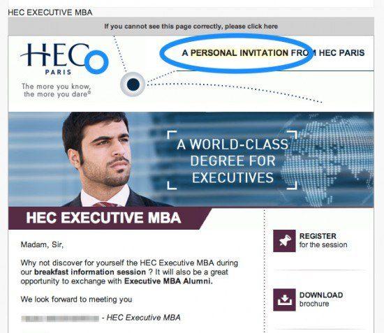 Personal Invitation HEC - the myndset digital strategy
