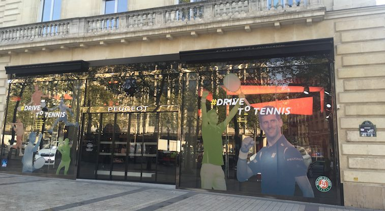 Peugeot Drive to Tennis Experience Window 2