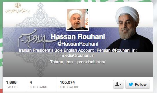Twitter Rouhani Social Media, The Myndset brand strategy digital marketing