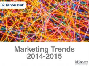 Future Marketing Trends - the myndset digital marketing