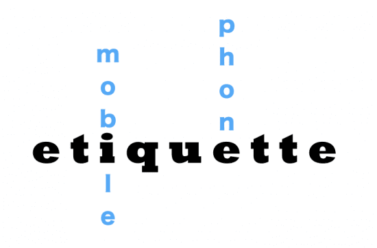 mobile phone etiquette - the myndset brand strategy