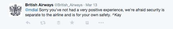 downgrade on British Airways