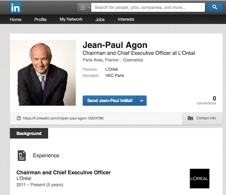 Social Presence CEO Jean-Paul Agon