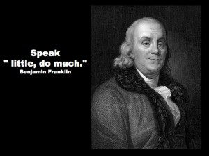 Speak Little Do Much Franklin - the myndset digital strategy activation