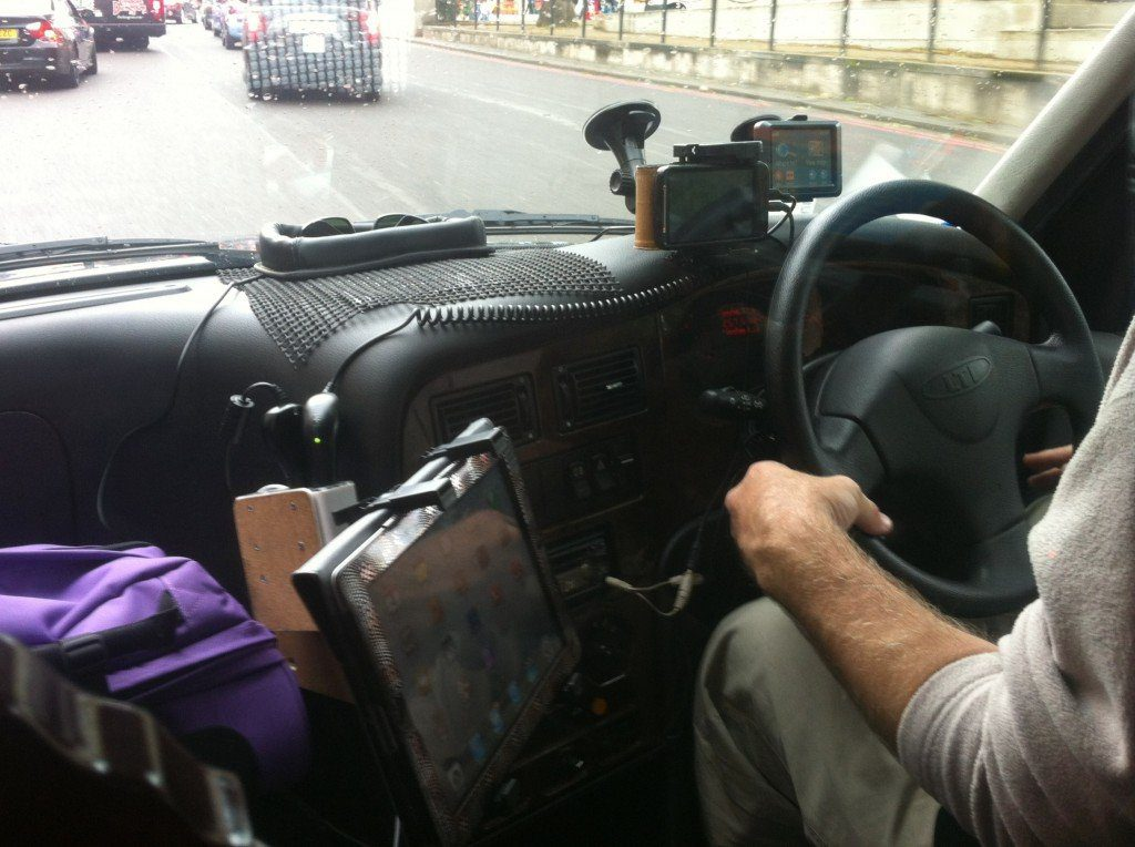 London Taxi driver Connected, The Myndset Digital Marketing