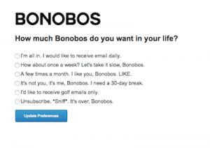 Unsubscribe user experience
