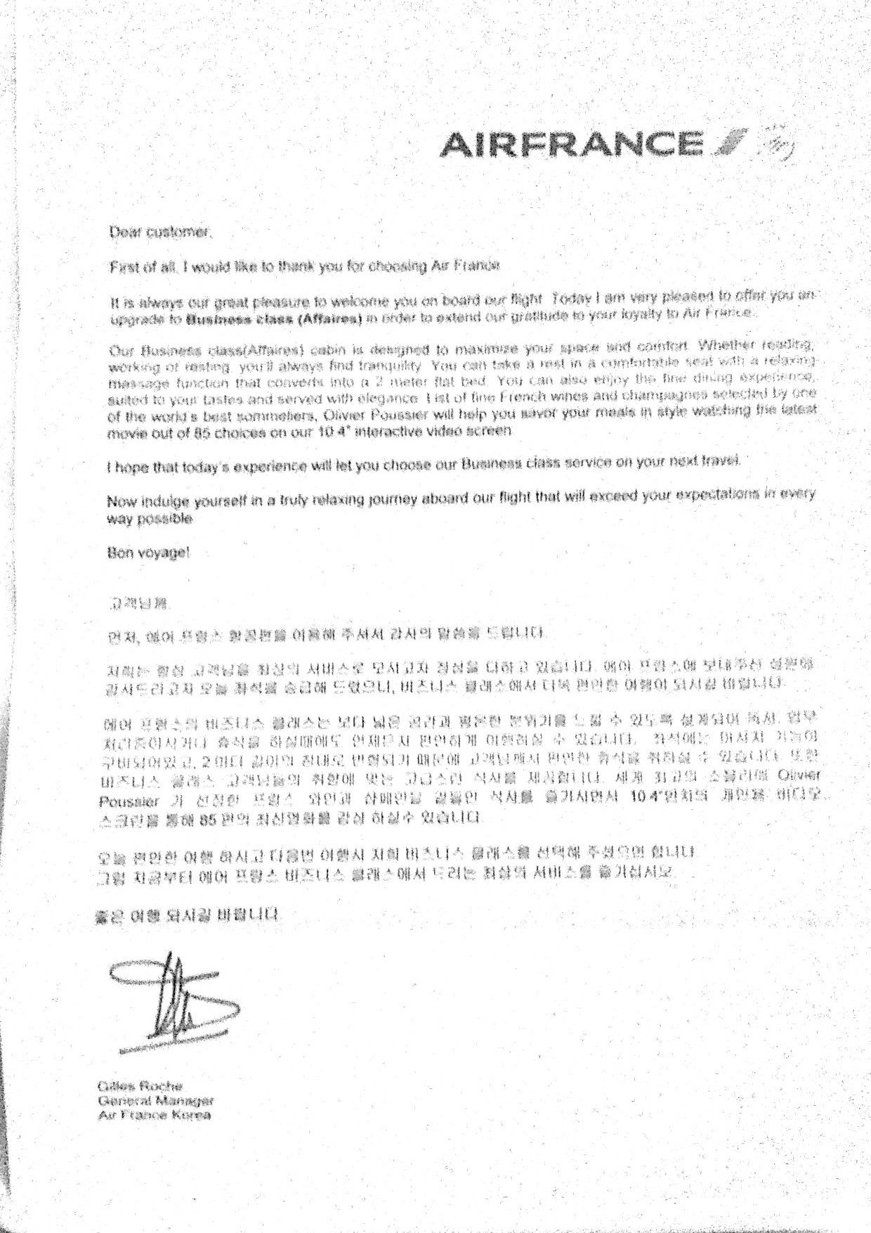 air France letter, The Myndset Brand Strategy and Thought Leadership