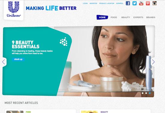 beauty portal unilever making life better