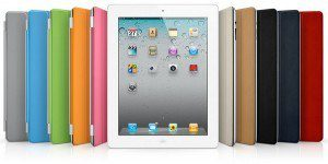 iPad2 with myriad color cases