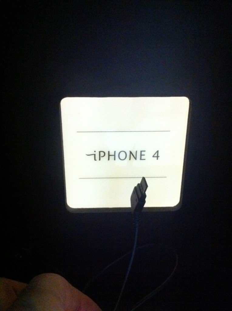 iphone 4 box, recharge booth with different names, Myndset Digital Marketing and Brand Strategy