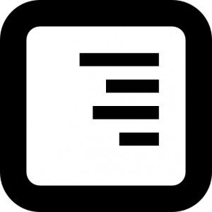 luxury values paragraph-right-alignment-icon