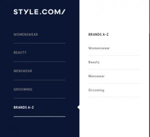 style com navigation