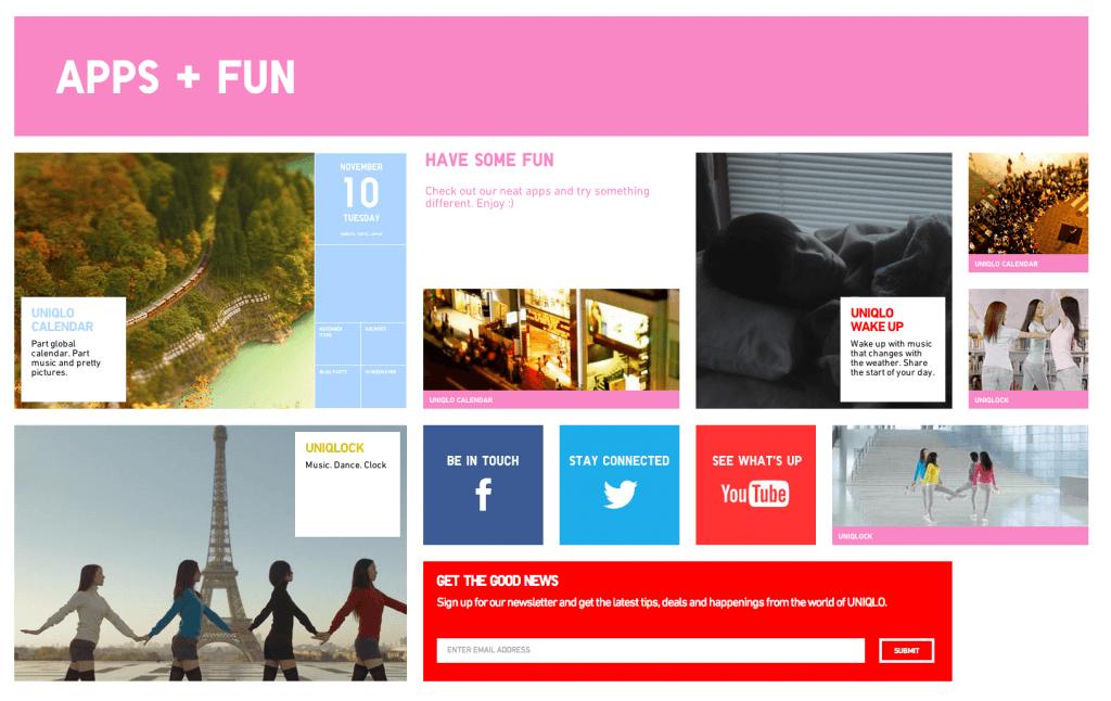 Uniqlo Apps and Fun USA, The Myndset Digital Marketing