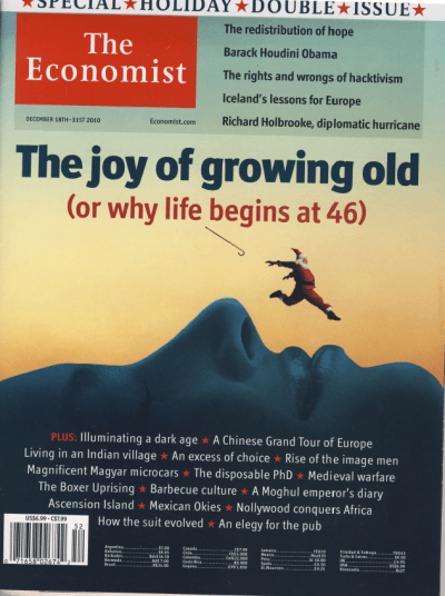 Economist The Joy of Growing Old Dec 2010