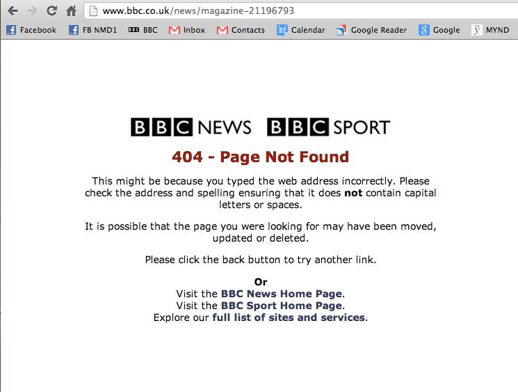 BBC 404, The Myndset Digital Marketing and Brand Strategy