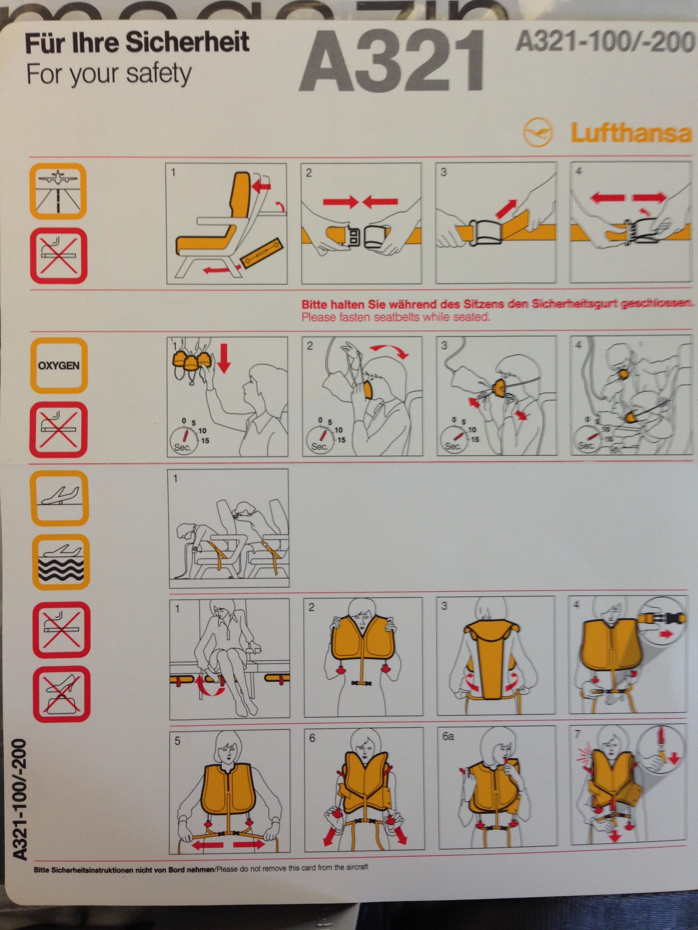 EasyJet - LH Instructions user experience