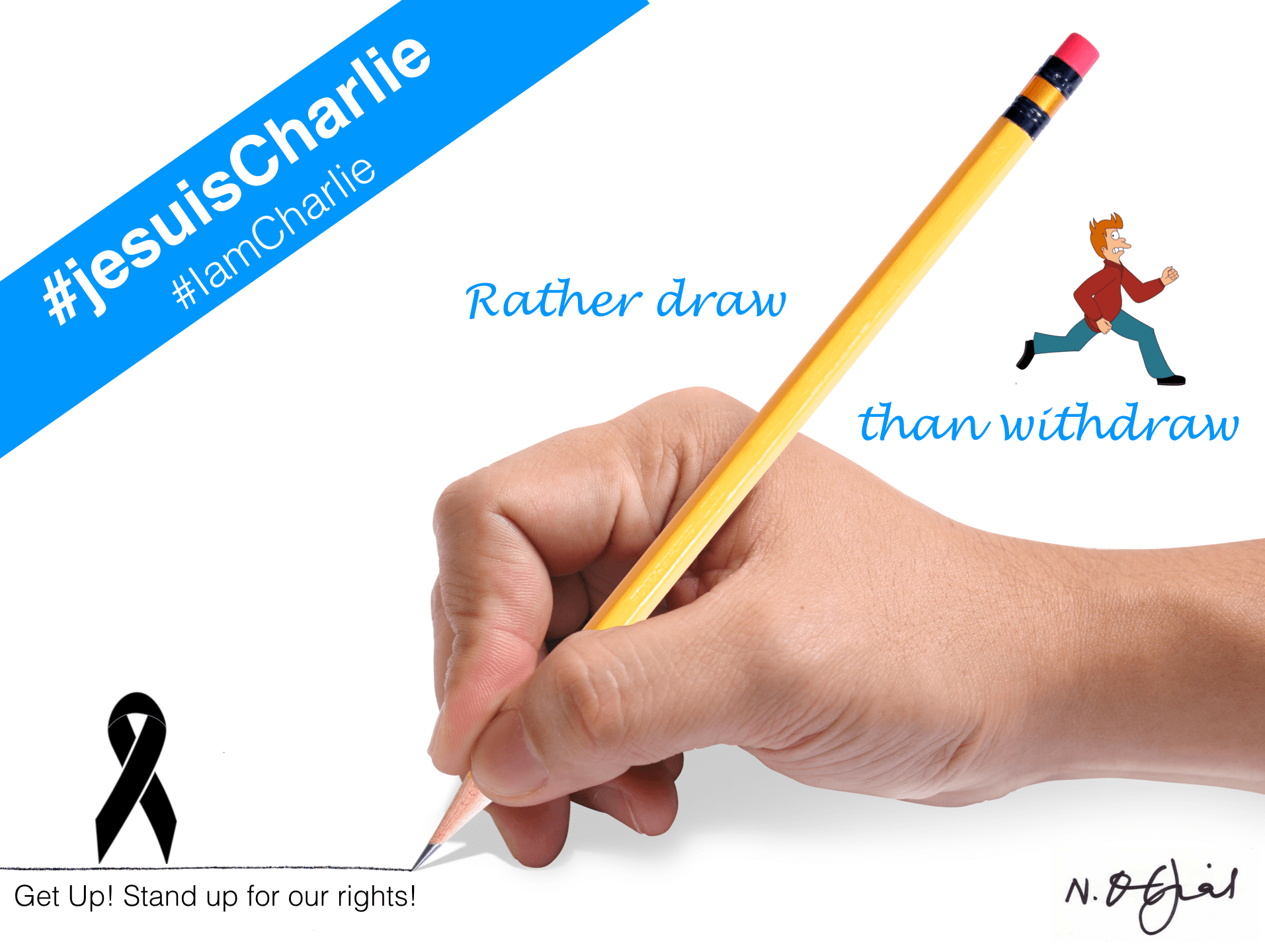My second contribution to the Charlie Hebdo Massacre. #iamcharlie