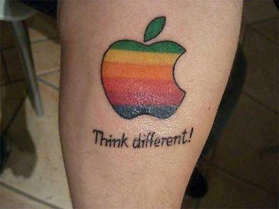 Apple Think Different Brand Tattoo