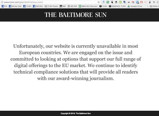 GDPR Baltimore Sun