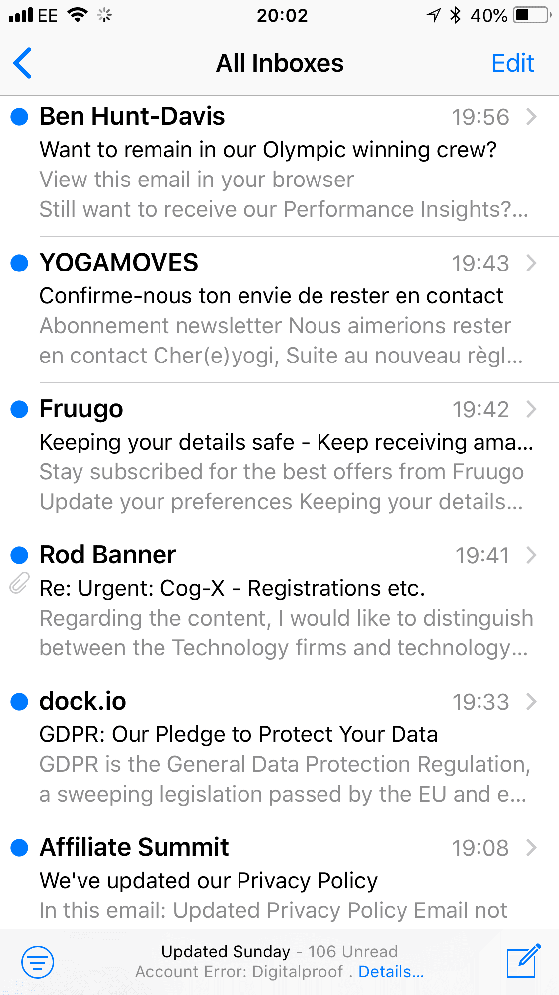 GDPR emails