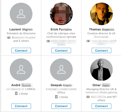 Linkedin network connection request