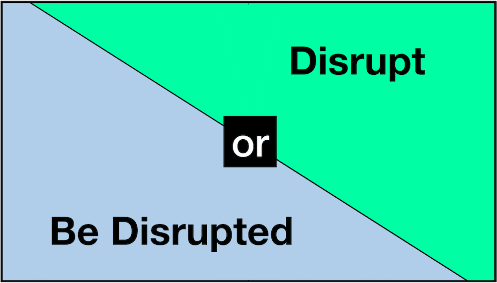 Disrupt or be disrupted 2020 futureproof