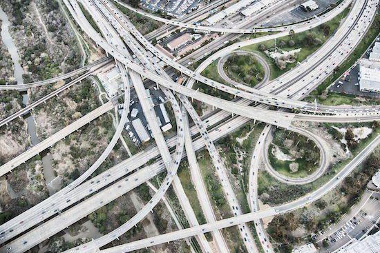 Freeway interchange pixfeeds digital transformation spaghetti