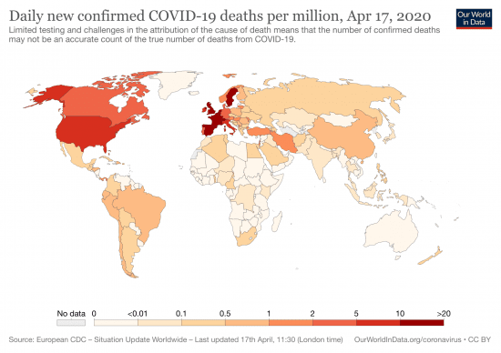 map 2 Covid Coronavirus map deaths CDC